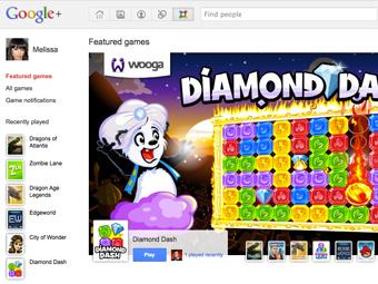 В социальной сети Google+ появились игры, но не для русских