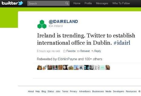Twitter откроет представительство в столице Ирландии