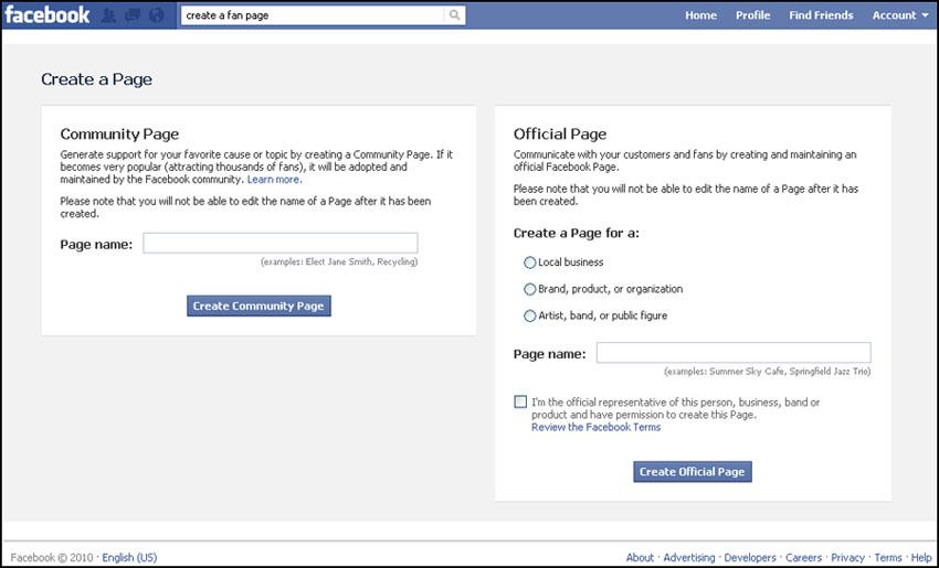В России Facebook Pages не жалуют