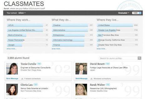 LinkedIn запустила функцию Classmates для общения сокурсников