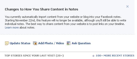 Facebook запретит автоматический импорт записей в соцсеть
