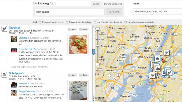 Foursquare запустил персонализированный поиск