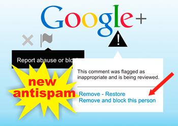Google+ совершенствует функцию блокировки спама