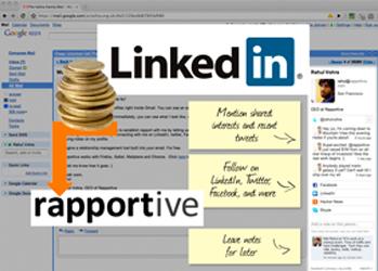 Rapportive пополнил список недавних приобретений LinkedIn