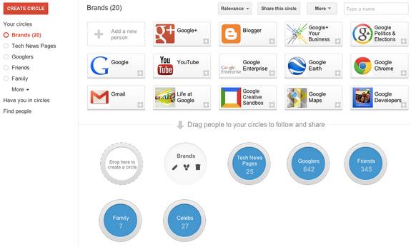Очередное обновление Google+ делает круги более удобными