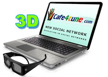 Cafe4tune.com – новый конкурент Facebook с 3D-возможностями
