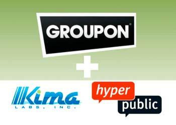 Groupon купил ещё два стартапа – HyperPublic и Kima Labs