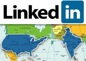 Больше всего пользователей LinkedIn находится в США и Индии