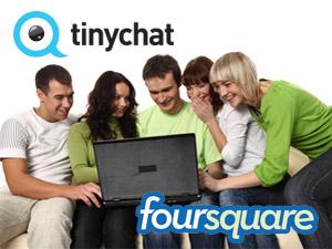 Foursquare и Tinychat набрали по 20 миллионов пользователей