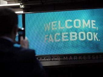 Цена акции Facebook опустилась ниже 30 долларов