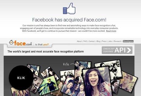 Facebook договорилась о покупке сервиса распознавания лиц Face.com