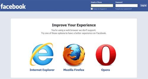 Facebook объявил бойкот Chrome и полюбил Opera
