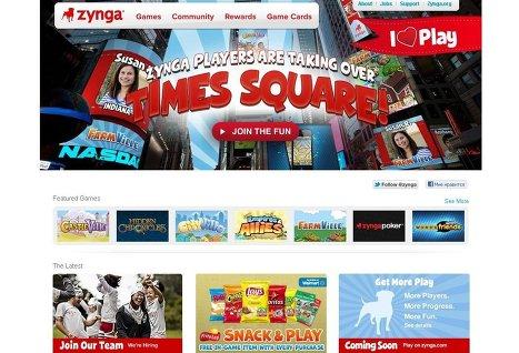 Facebook начинает демонстрировать рекламу на сайте компании Zynga
