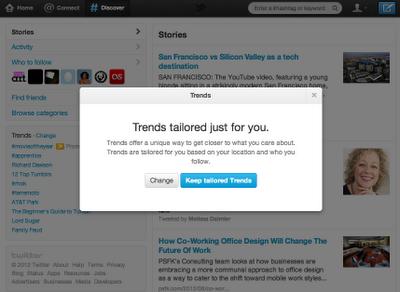 Tailored Trends – новая опция Twitter, настраивающая тренды под вас
