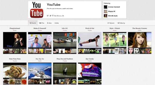 YouTube начинает работать с Pinterest