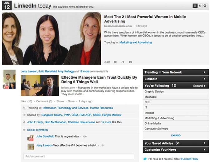 LinkedIn запускает новые социальные функции
