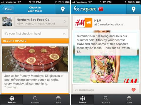 «Локальные обновления» – новый маркетинговый инструмент Foursquare