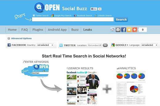 Социальный поисковик Social Searcher запустил поиск сообщений в реальном времени