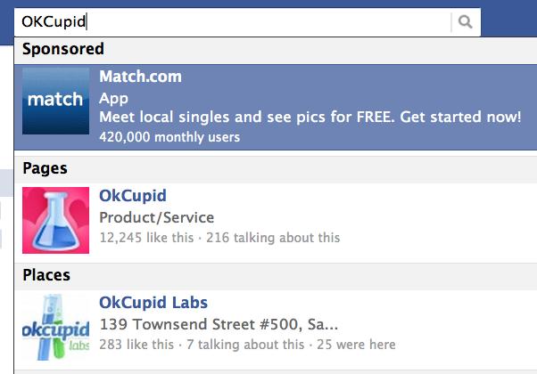 Facebook официально запустил рекламу в поиске по страницам