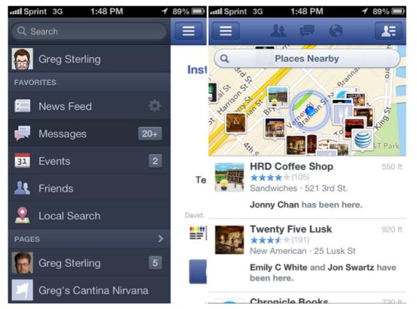 Сервис Facebook Nearby, позволяющий пользователям Android и iOS находить интересующие места трансформируется в инструмент «Local search»