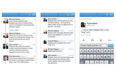 Твиты, которые являются частью диалога, теперь будут демонстрироваться в хронологическом порядке