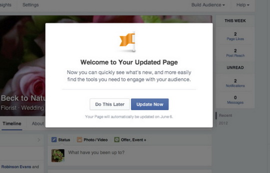 Facebook начинает массовый запуск нового дизайна для публичных страниц