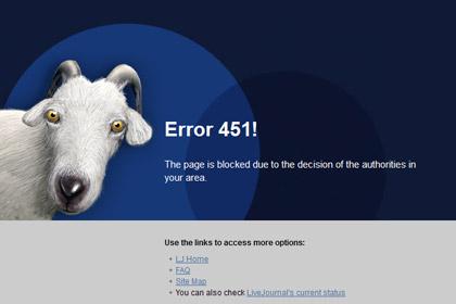 На сайте LiveJournal заблокирован блог одного из самых популярных авторов ресурса