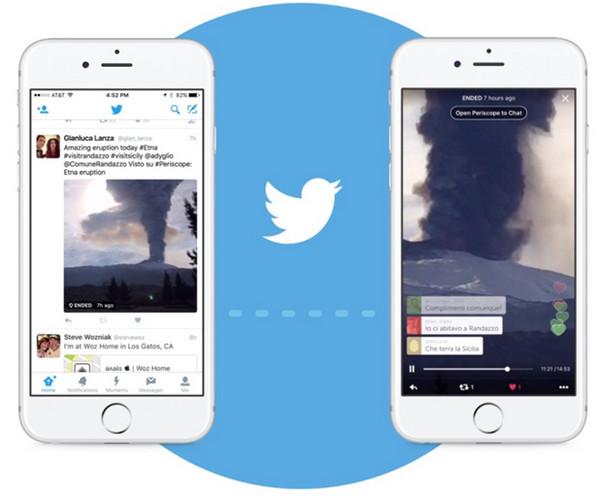 Команда сервиса Periscope объявила об интеграции с функционалом сервиса микробблогинга Twitter