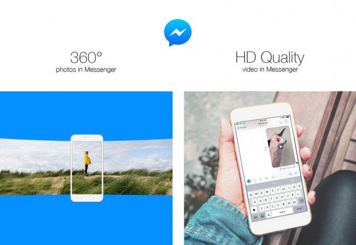 Facebook Messenger теперь поддерживает HD-видео и 360° фото