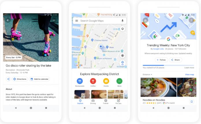 Карты Google помогут найти интересные местные заведения и активности
