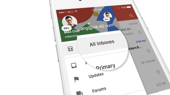 В Gmail для iOS добавили общую папку для сообщений из всех аккаунтов