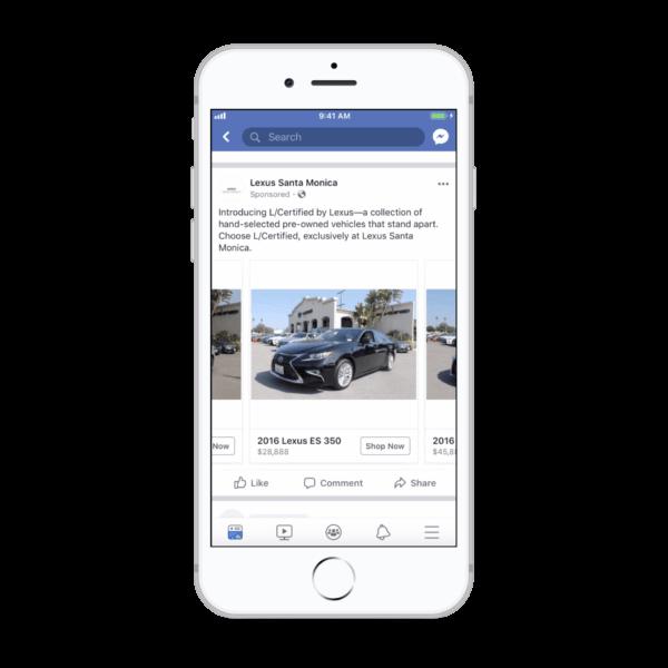 Facebook провёл ребрендинг автомобильной рекламы и расширил её охват