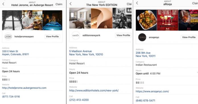 Instagram тестирует автоматические профили для местных компаний