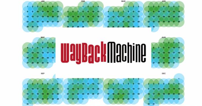 Wayback Machine покажет, как менялось содержимое URL с течением времени