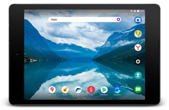 Яндекс выпустил планшетную версию Яндекс.Лончера