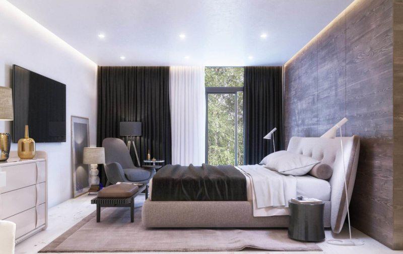 Расположение телевизора в спальне