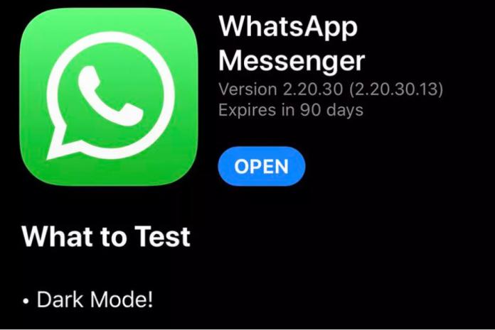 WhatsApp тестирует тёмную тему в приложении для iOS