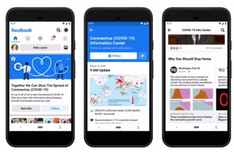 Facebook запускает информационный центр по коронавирусу в новостной ленте