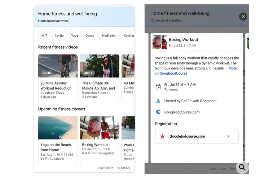 Google добавил новый тип структурированных данных Home Activities
