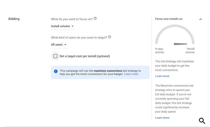 Google Ads запустил стратегию «Максимум конверсий» для App Campaigns