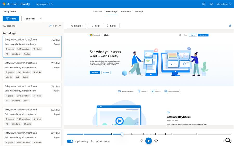 Microsoft представил бесплатный инструмент для анализа поведения пользователей на сайтах
