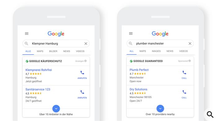 Google Ads запускает рекламу местных услуг в Европе