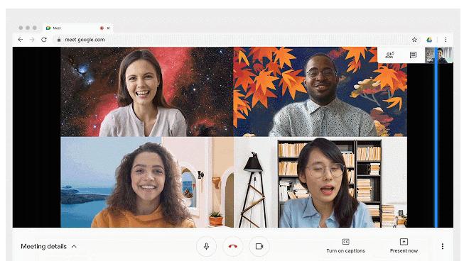 В Google Meet появилась возможность менять фон