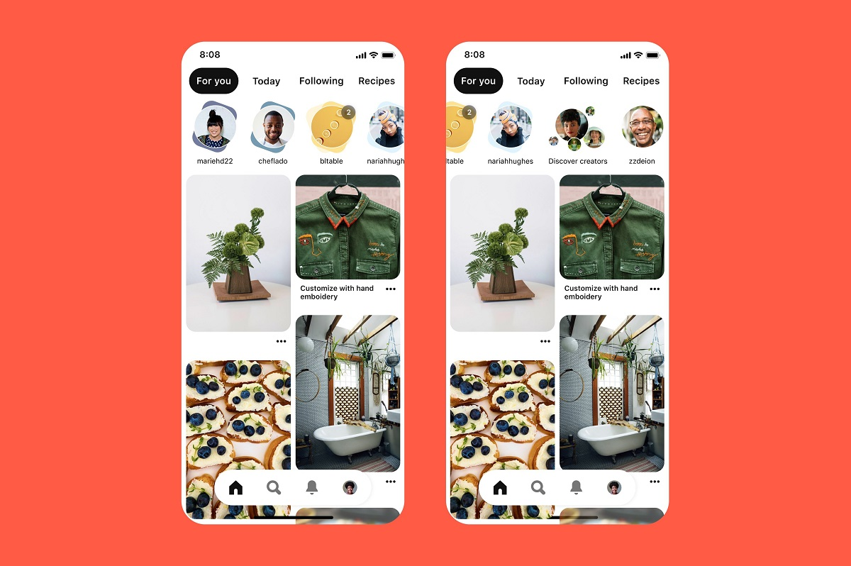 В мобильных приложениях Pinterest появилась карусель историй