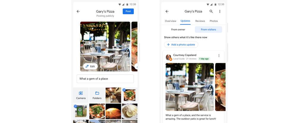 В Картах Google можно будет оставлять фотоотзывы