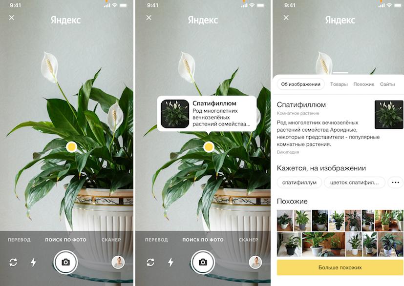 В приложении Яндекс появилась умная камера
