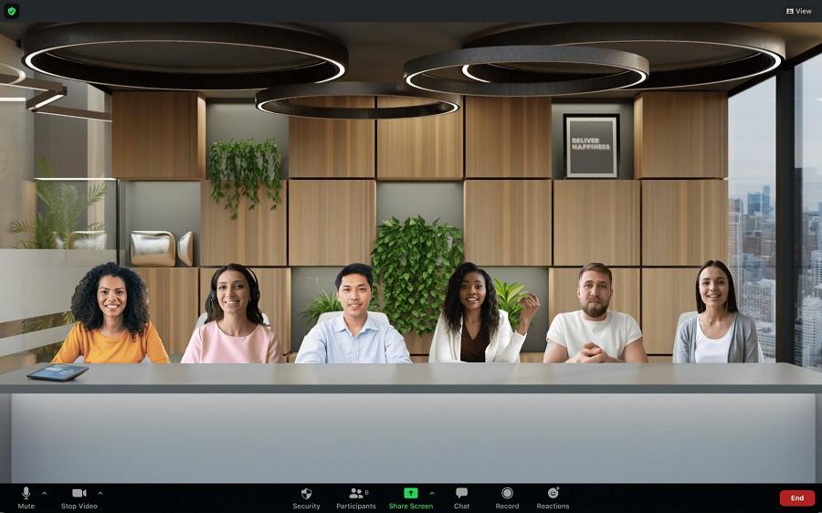 Новый режим в Zoom показывает всех участников в одной «комнате»