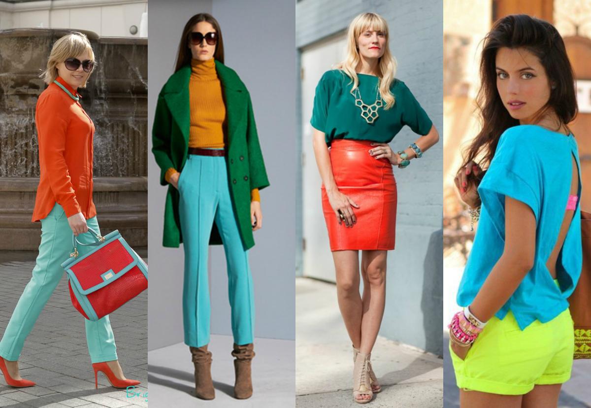 Правила сочетания и использования цветов в одежде