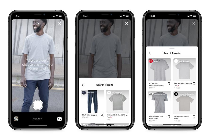 Facebook работает над визуальным поиском для покупок в Instagram