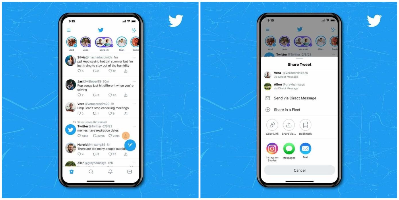 Twitter позволил делиться твитами в Instagram Stories